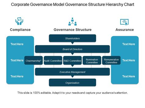Corporate Governance Model Governance Structure Hierarchy Chart Ppt Exle Powerpoint Corporate Governance Policy Template