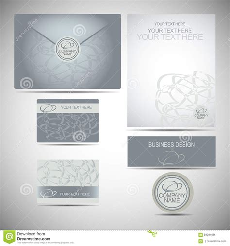 business card envelope template vector corporate style sign logo business card envelope