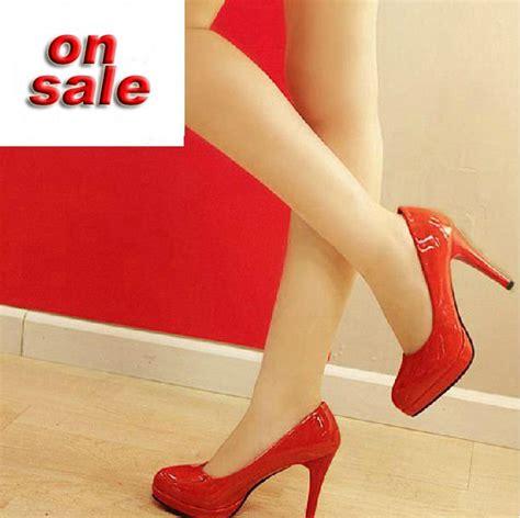 Promo Platform Casual Termurah aliexpress buy discount s high heel shoes pumps platform shiny black white beige