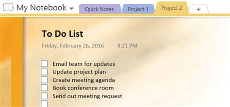 onenote to do list template how to adopt onenote templates for project management