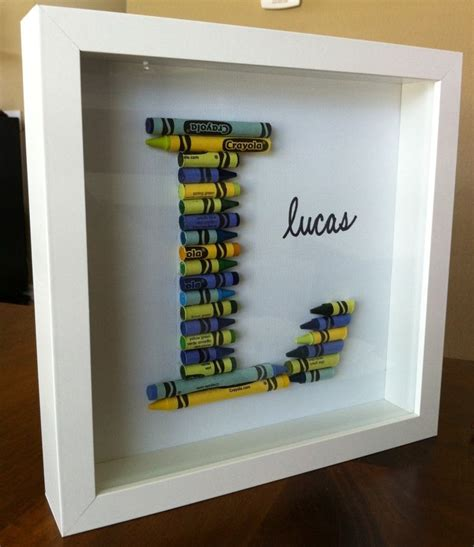 Nursery Decor Diy Great Diy Idea For Nursery Decor With Crayons In A Shadowbox Frame Someday