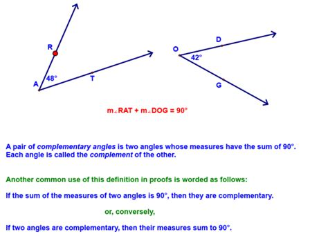 supplementary angles definition chapter 2 class notes