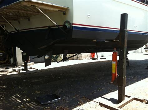 boat trailer on jack stands boat jacks mike s pms