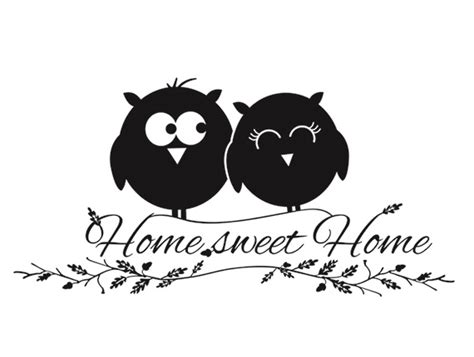 Sticker Sweet Home Aufkleber by Wandtattoo Wandsticker Spr 252 Che Home Sweet Home Eule