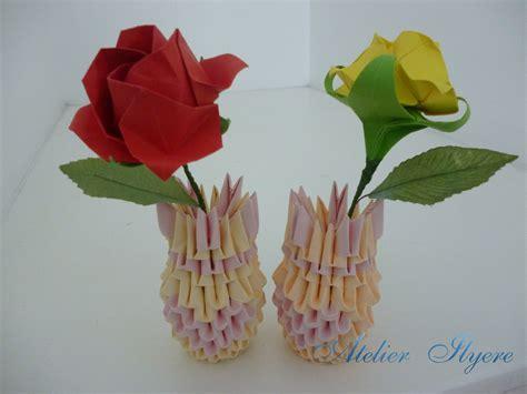3d Origami Flower Vase - 3d origami vase with flower atelier ilyere
