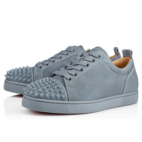 louboutin mens sneakers sneakers grey christian louboutin louis junior spikes
