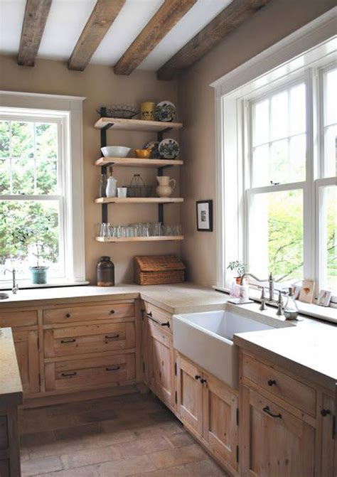 rustic and vintage kitchen design with modern and shabby cozy vintage kitchen with rustic features