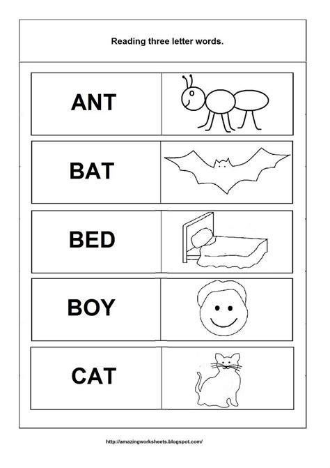 4 Letter Words Kindergarten worksheets for kindergarten three letter words worksheet