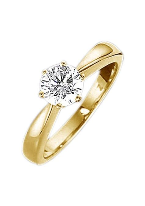 Verlobungsring Gelbgold by Firetti Ring Diamant Solitaire Verlobungsring