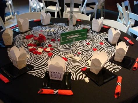 Animal Print Wedding Zebra Centerpieces For Tables