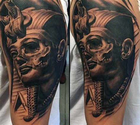 king tut tattoos skull king tut mens masculine half sleeve design