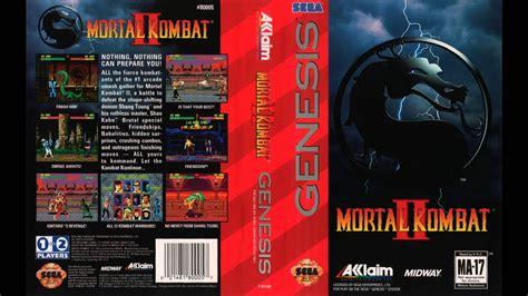 mortal kombat 2 sega genesis sega genesis mortal kombat ii original
