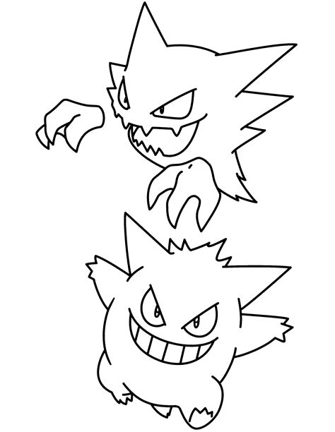 pokemon coloring pages gengar gengar pokemon coloring pages coloring pages