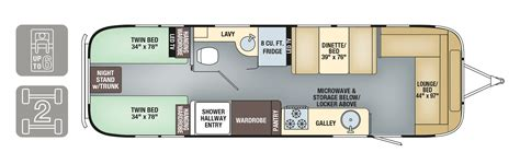 airstream travel trailers floor plans airstream trailer floorplans land yacht floorplan