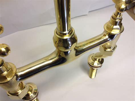 Brass Kitchen Taps Mixer by Kitchen Bridge Mixer Taps In Polished Brass For Sale