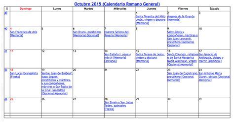 Calendario Liturgico Catolico 2015 Calendario Lit 250 Rgico Cat 243 Lico 2015