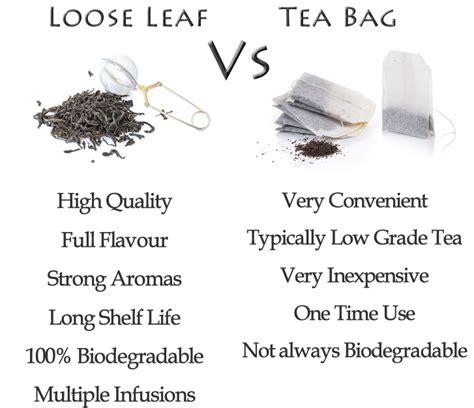 Tea Leaves Vs Tea Bags For Detoxing by Tea Bag Versus Leaf Tea