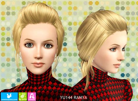 sims 3 pigtails with bangs pigtail with caught bangs hairstyle yu 144 ramya by newsea