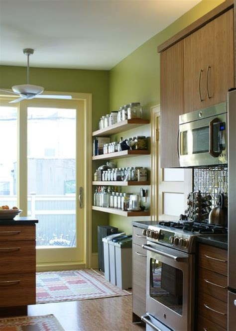 kitchen wall shelving ideas simple functional and space saving floating wall shelving