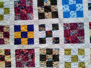 Patch Quilt Fabric Awesome Nine Patch Quilt Squares And Triangles