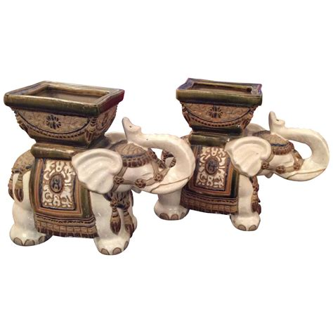 pair of terracotta pots for sale at 1stdibs pair of vintage terra cotta elephant garden pots planters