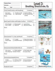 Swimming Report Card Template by Beginner Swim Lesson Template Summer List