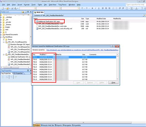 workflow in moss 2007 sharepoint comment supprimer les anciennes versions des