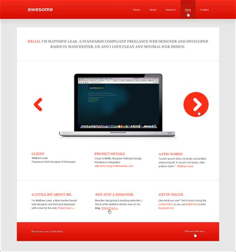 tutorial web design home page 12 top psd to html css tutorials