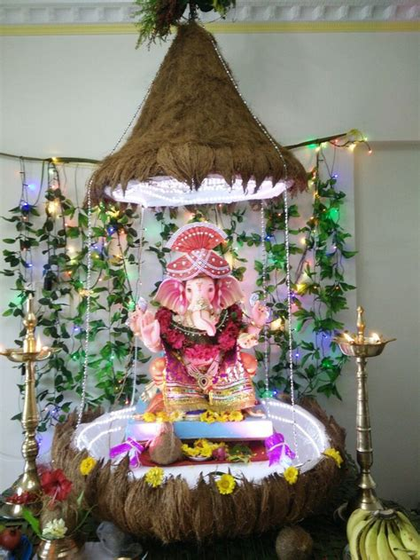 ganpati decoration ideas images  pinterest