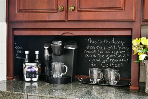 Appliance Garage Turned Coffee Station   At The Picket Fence