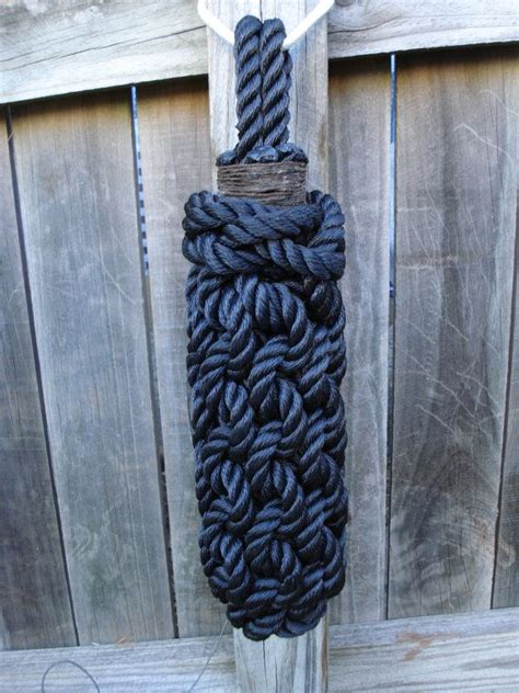 boat fenders rope small boat fender handmade from black polyester by