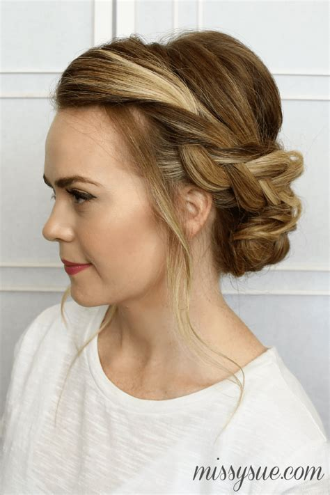 braid updo hairstyles soft braided updo