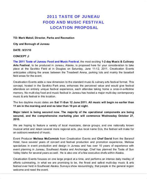 52 Event Proposal Sles Sle Templates Festival Event Plan Template