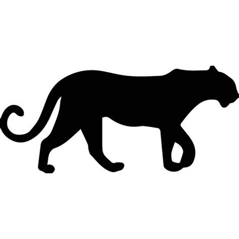 Hockey Wall Stickers panther silhouette wall sticker animal wall art