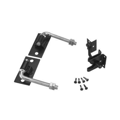 alert black steel flat wall fence gate hardware kit