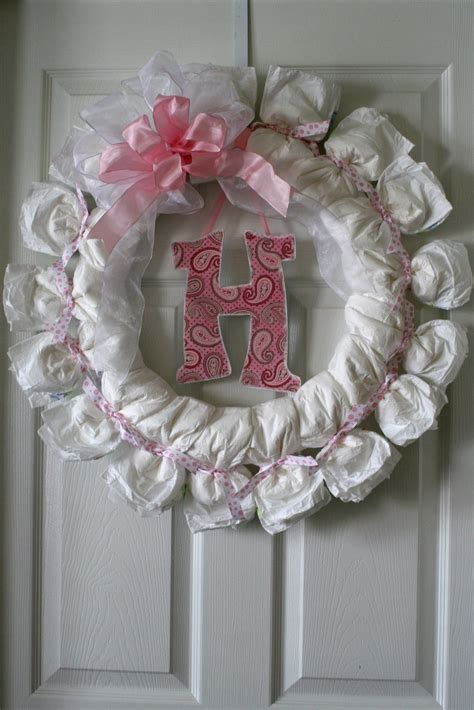 baby shower diaper wreath country amp victorian times