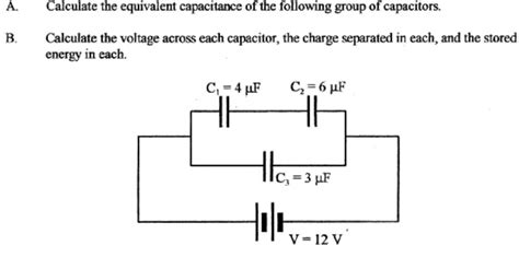 capacitor calculation formula calculate capacitance calculate voltage across each capacitor