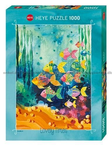 Heye Puzzle 1000 Pieces Shoal Of Fish k 248 b rissone fiskestimen 1000 brikker