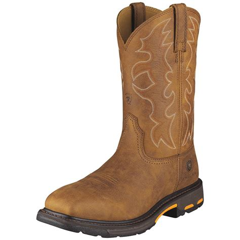 ariat steel toe boots s ariat 174 workhog steel toe cowboy boots 282343