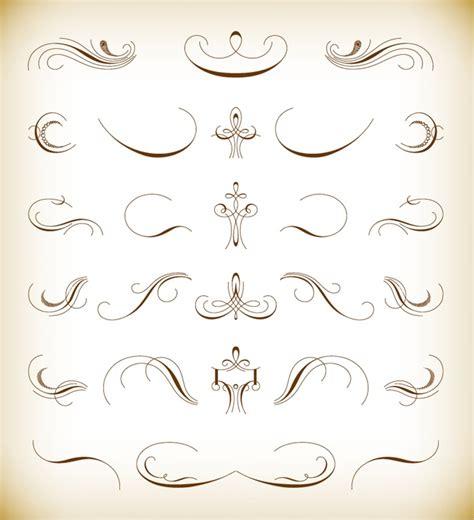 floral design elements vector calligraphic floral design elements vector set free