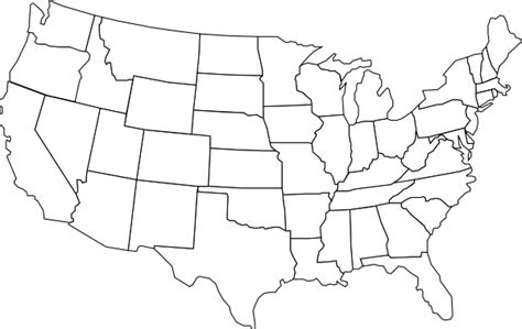 black and white map of the united states black and white u s map clip at clker vector