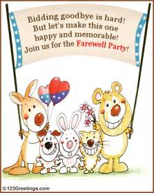Invite your colleagues friends for the farewell party with this ecard