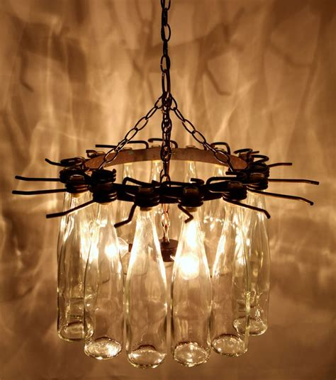 Wine Cellar Chandelier 15 Wine Bottle Chandelier Light Up The Empty Wine Bottles Wine Cellar