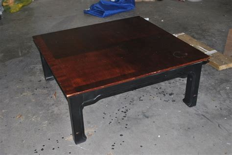 amazing grays industrial aged coffee table redo