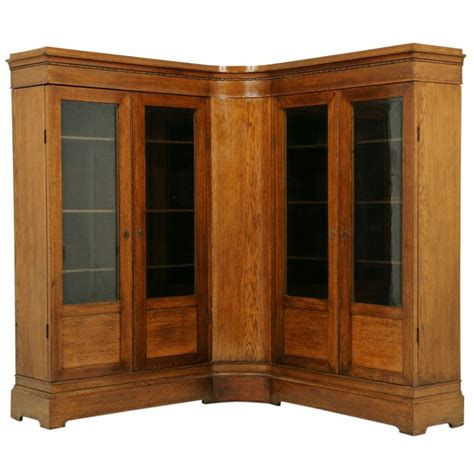 Corner Bookcase Oak Antique Oak Corner Bookcase Antiques Bookcases And Furniture