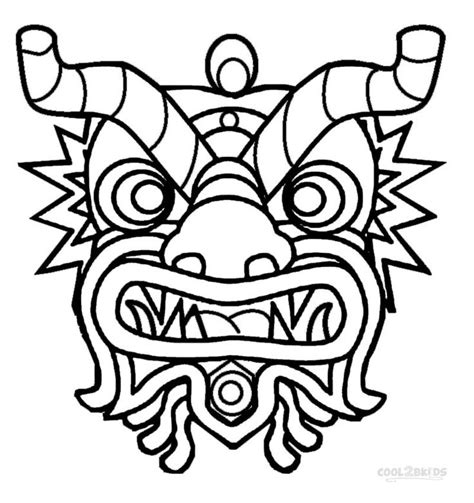printable chinese new year mask printable chinese new year coloring pages for kids