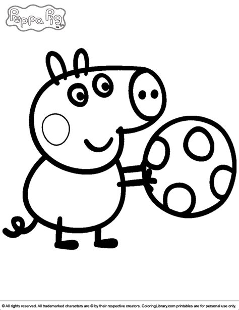 Peppa Pig Coloring Pages Coloring Home Colouring Pages Peppa Pig