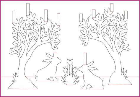 free pop up card templates a wonderful free bunny pop up card template