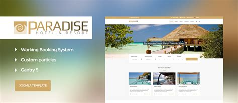 paradise hotel booking gantry 5 joomla template