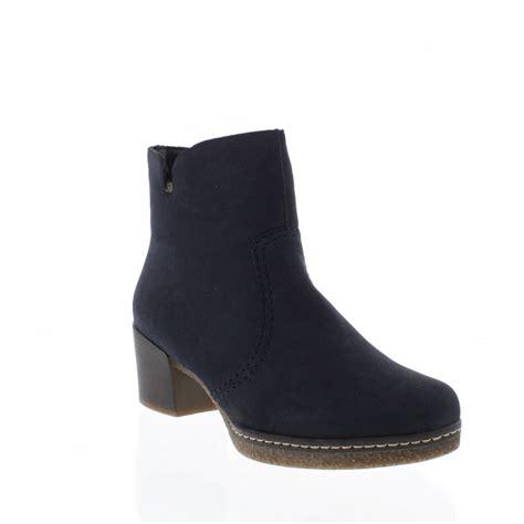 rieker 79061 15 womens blue ankle boots rieker